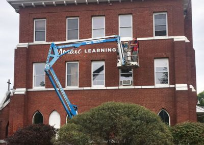 Mosaic Learning sign install