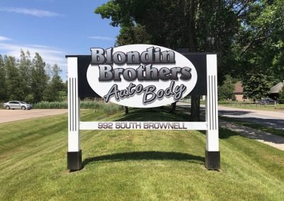Blondin Brothers Auto body signage