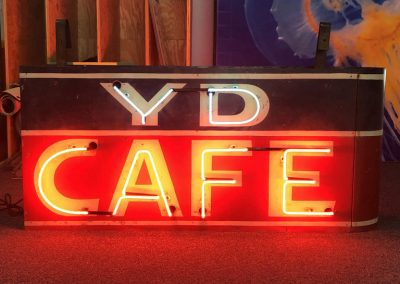 YD Cafe neon sign
