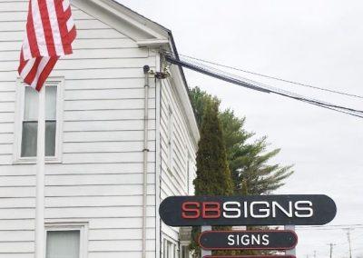 SB Signs Road Sign