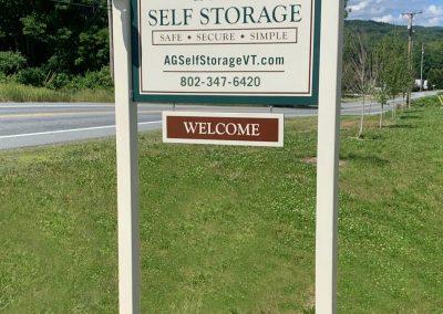 AG Self Storage Sign