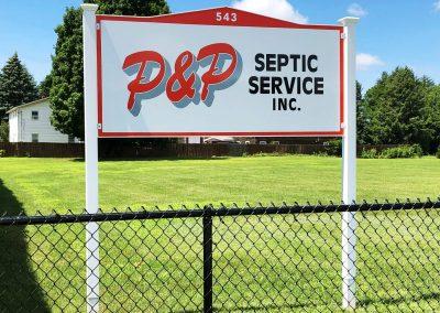 P&P Septic Service Signage