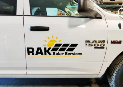RAK Solar Services Truck Decal