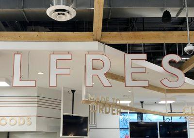 Healthy Living Market & Cafe Interior Signage