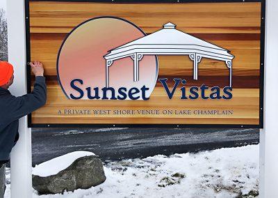 Sunset Vistas Sign Install