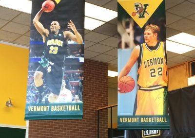UVM Basketball Banners