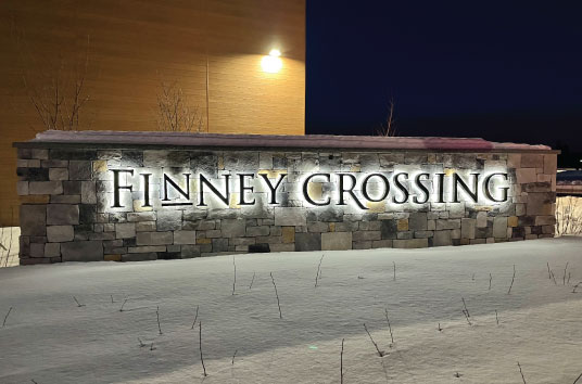 Finney Crossing Outdoor Signage