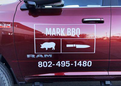 Mark BBQ Truck Graphics