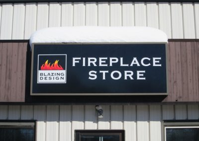 Fireplace Store Building SIgnage