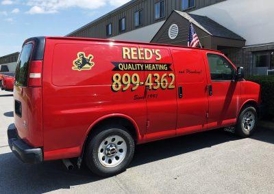 Reed's Van Lettering