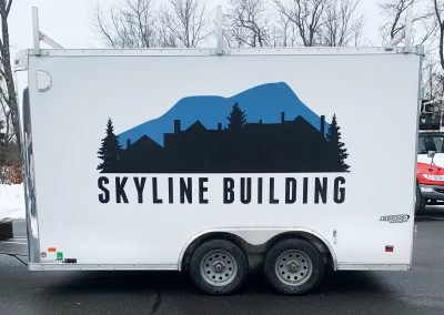 Skyline Building Trailer Graphic