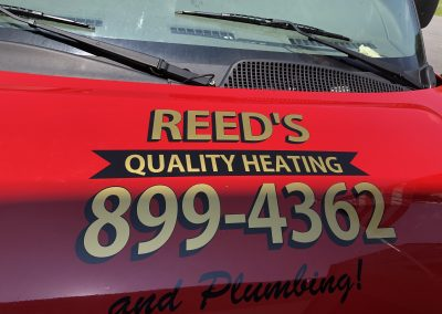 Reed's Heating Vehicle Lettering