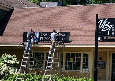 Roof Sign Installation, Shelburne, Vermont